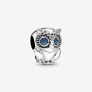Pandora Silver Sparkling Owl Charm